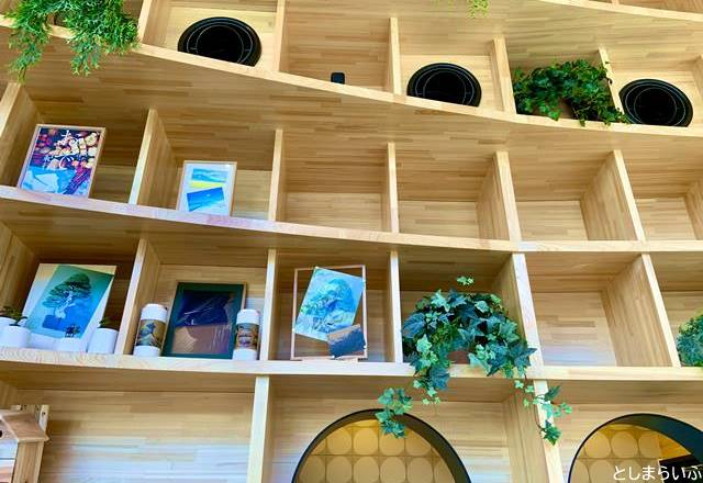 GLOBAL RING CAFE グローバルリングカフェ 木の棚