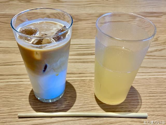 EAT GOOD PLACE カフェオレとアップルジュース