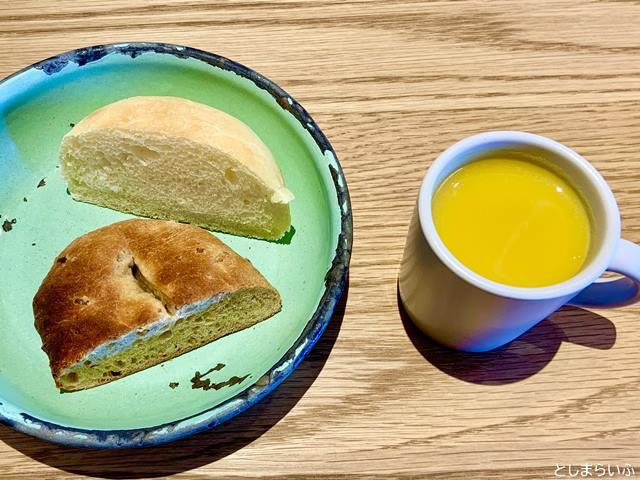 EAT GOOD PLACEのパンとスープ