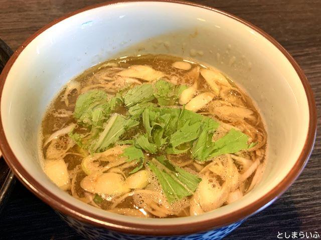 池袋 浮浪雲 つけ麺のスープ