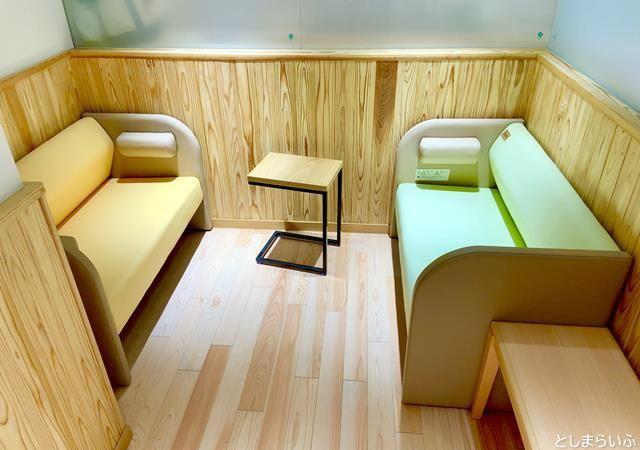 Hareza池袋 ハレザ池袋 授乳室のベンチ