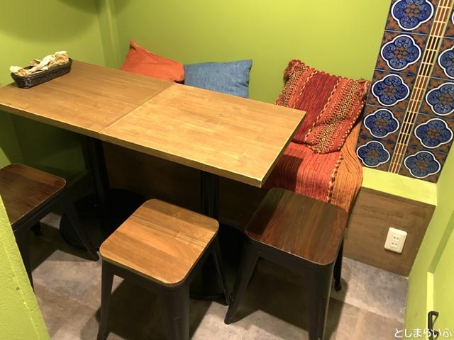 フルーツカフェ池袋果実 半個室の席