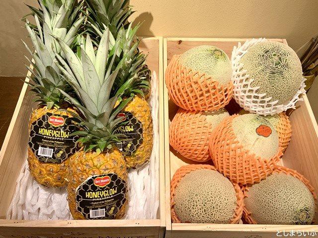 フルーツカフェ池袋果実 パイナップルとメロン