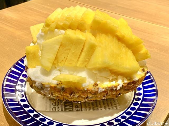 フルーツカフェ池袋果実 パインかき氷