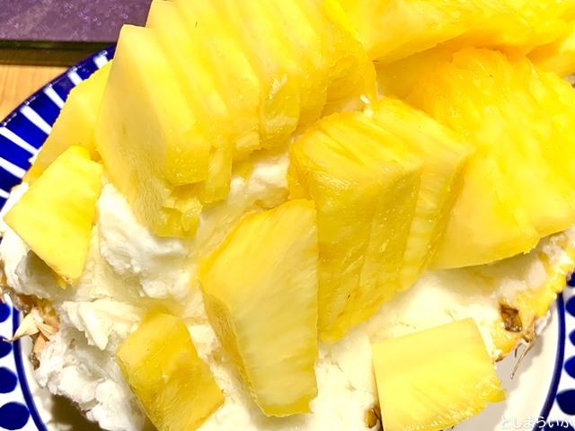 フルーツカフェ池袋果実 パインかき氷のアップ