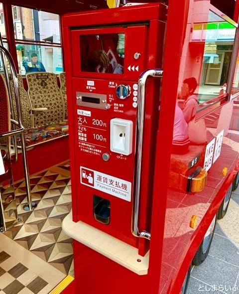 IKEBUS イケバスの運賃支払い機