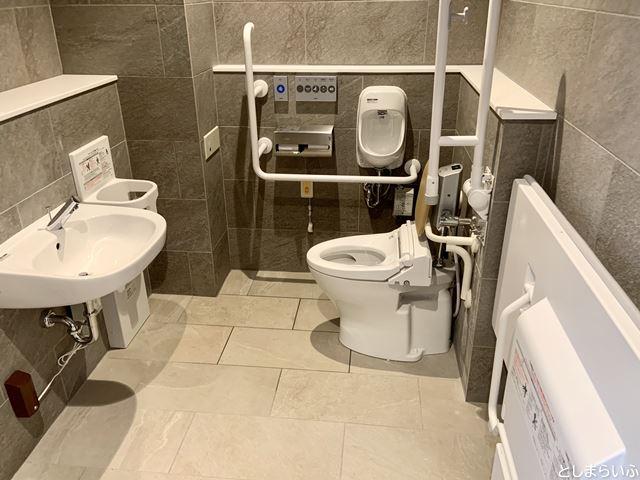イケサンパークの多目的トイレ