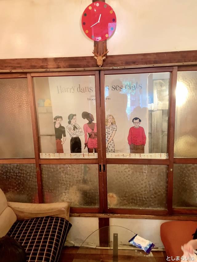 カフェ lamp 店内の時計