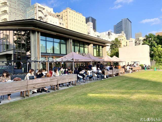 南池袋公園のカフェ