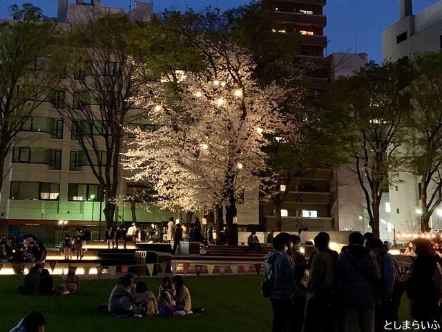 南池袋公園 サクラテラスの夜桜
