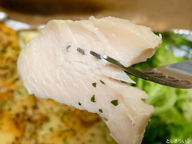 サラダチキン研究所 鶏肉のアップ