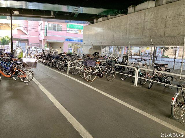 椎名町駅 自転車置き場