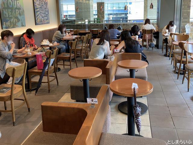 スターバックスコーヒー池袋サンシャインシティアルパ店 座席