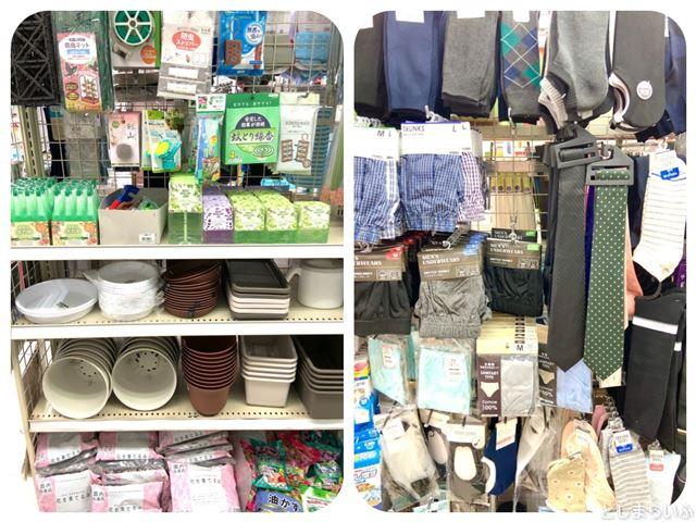 巣鴨 100均 キャンドゥ 園芸用品と衣類