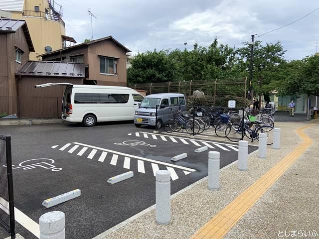 トキワ荘マンガミュージアムの駐輪場