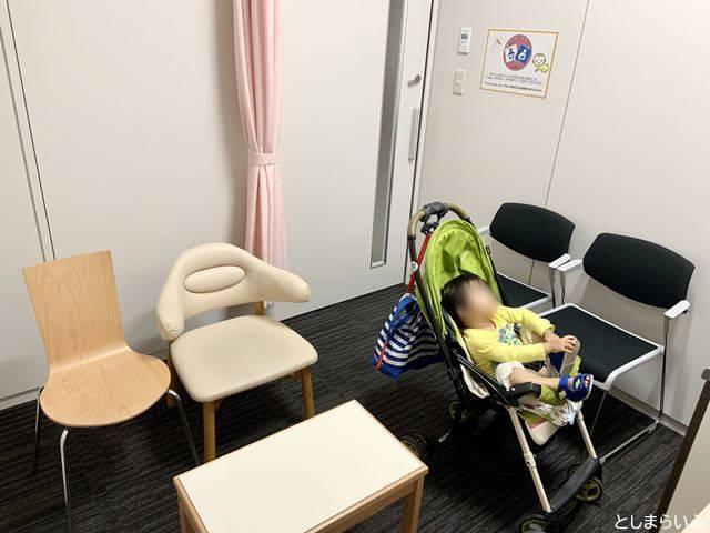 豊島区役所 4階授乳室 ベビーカーで入ったところ