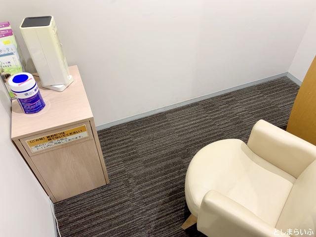 豊島区役所 4階授乳室 個室の中