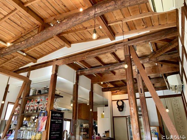 藤香想 古民家カフェの内装