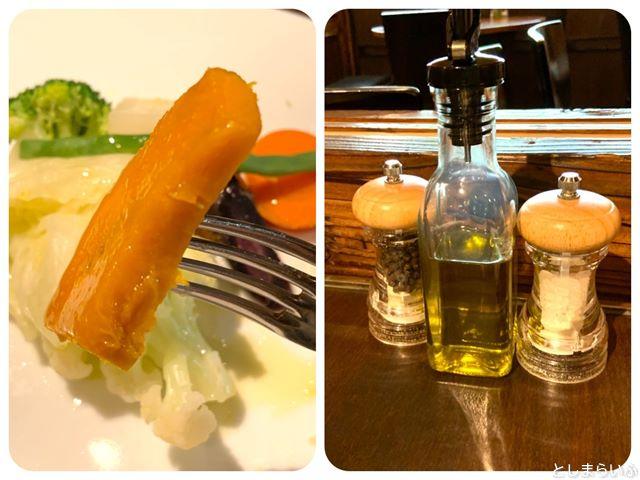 ウナボルタ Una Volta 温野菜とオリーブオイル
